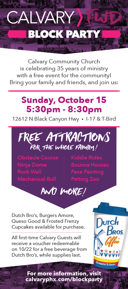 Calvary Block Party Invitation